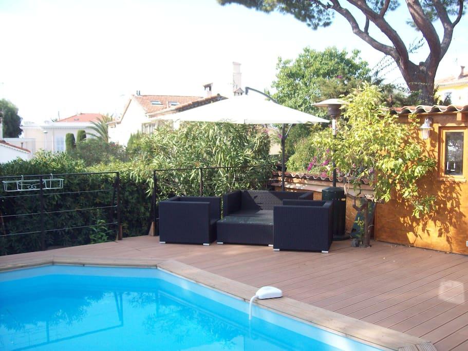 piscine chauffée sur terrasse privative