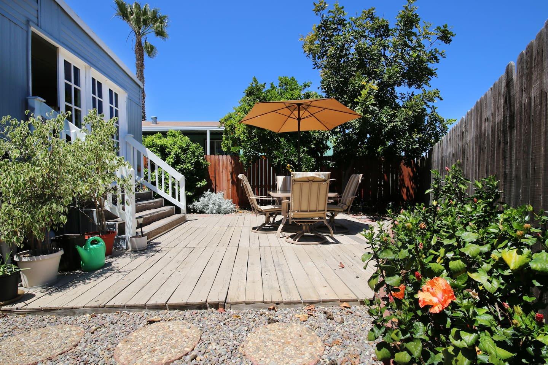 Backyard patio & garden