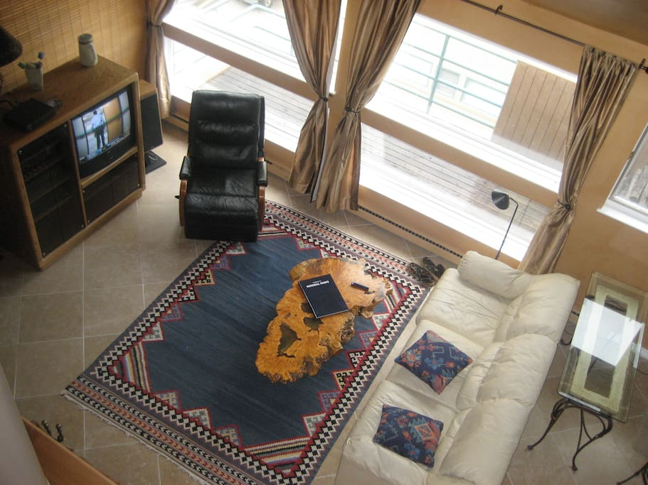 Living Room from Loft (Egyptian Travertine stone floors)