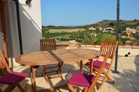 maison ensoleillée en  languedoc - Fouzilhon - Casa