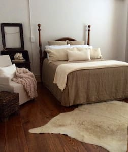 This studio apartment is cozy and is equipped with a refrigerator,microwave and coffee maker. The location is superb in the heart of downtown Savannah! Just a short walk to everything you would want to visit and explore! Private parking is available for an extra charge.No children under 12
