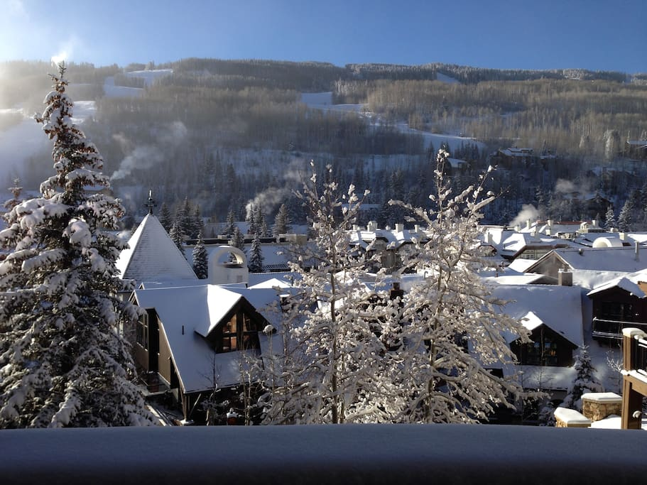 Vail Village as seen from the living room