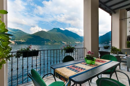 Our lovely home is located in the historical center of Brienno, a small village on Lake of Como. The property has recently been  finely restored. From its terrace you can enjoy a stunning view of the lake!