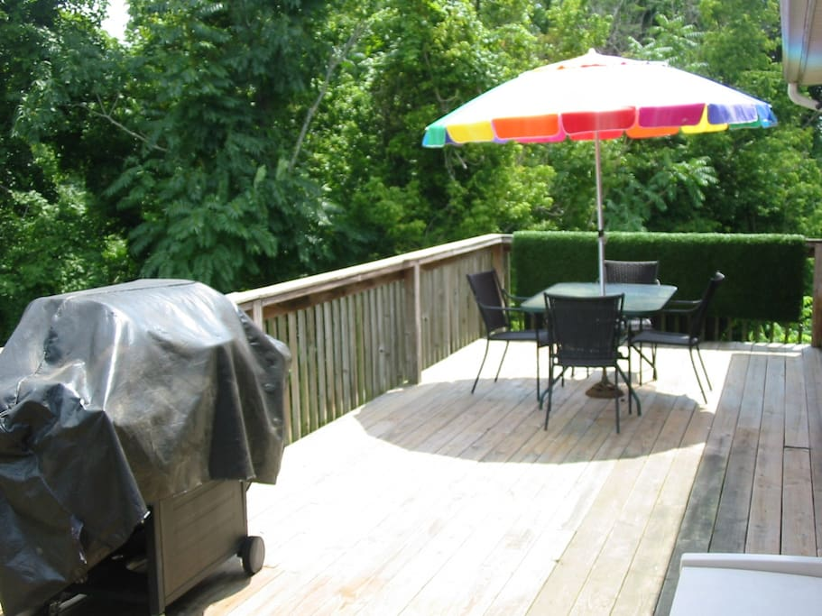 Cook that meal and relax on the deck