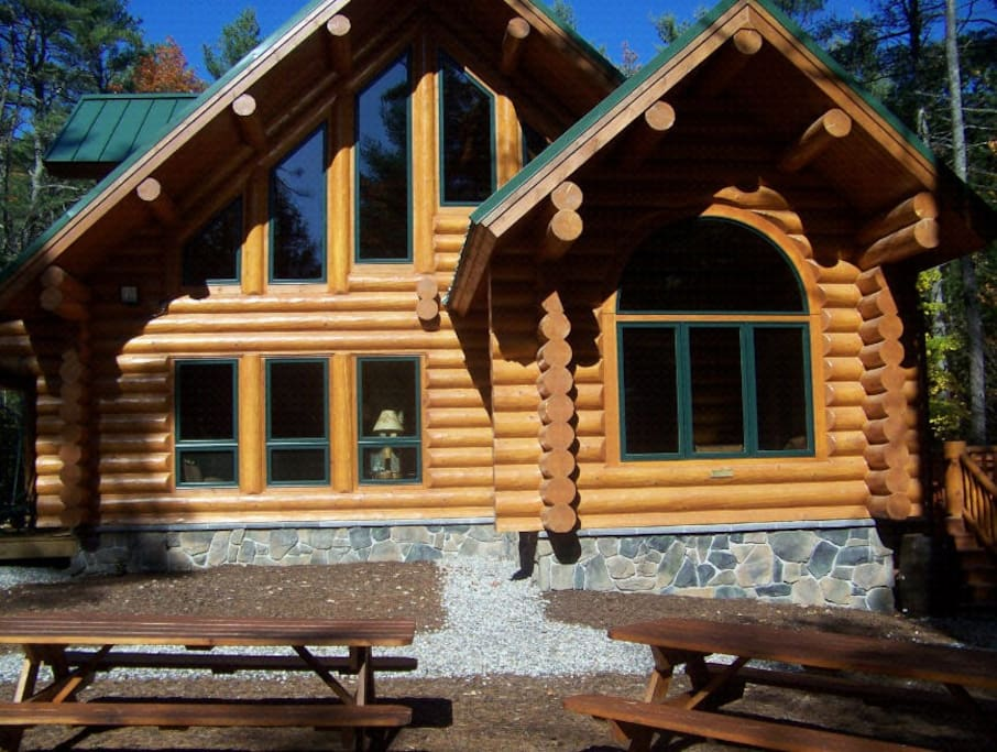 big bear log cabin luxury maine southern maine cabins
