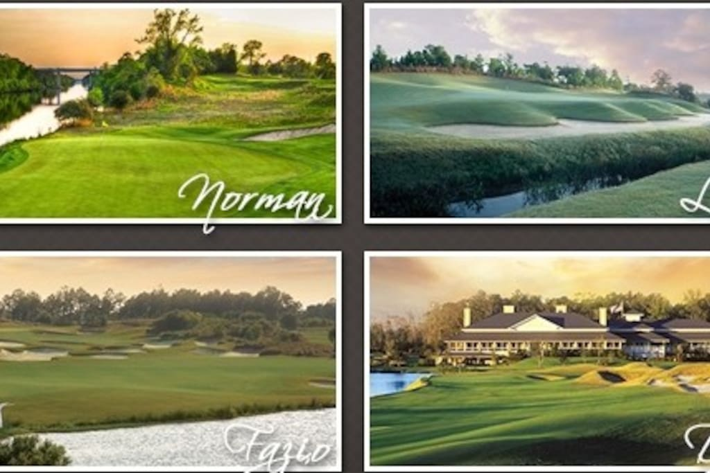 World Famous Golf Courses at your doorstep!