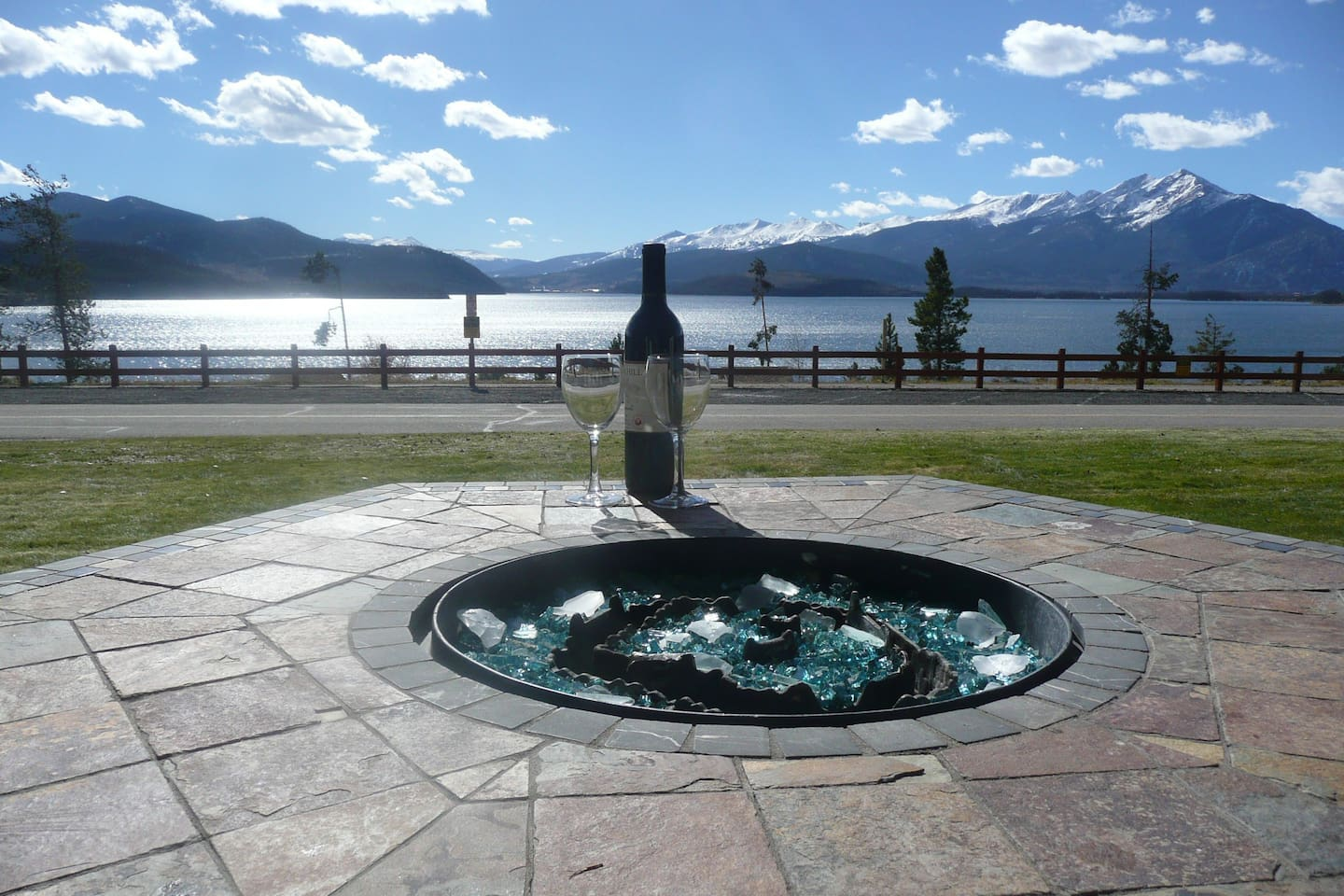Sit out on the patio at the gas fire-pit and enjoy the view!