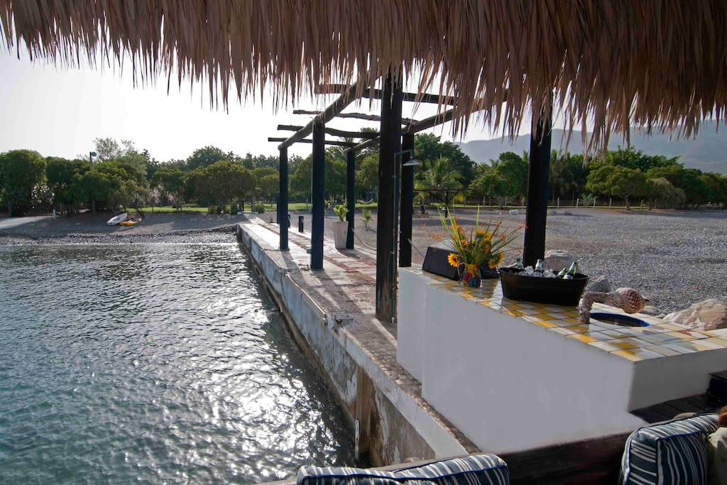 View from the dock towards the Hacienda.