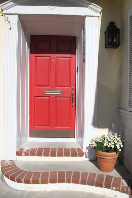 A red door welcome :)