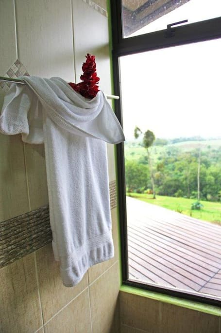 You can take a shower over looking the valley!