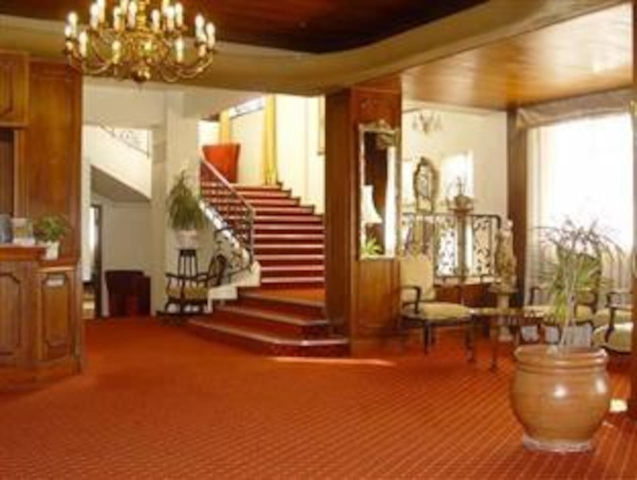 The foyer of the Parkview Apartment Block.