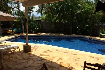 Kailua Affordable Room with Bath By the Pool - 凯鲁瓦