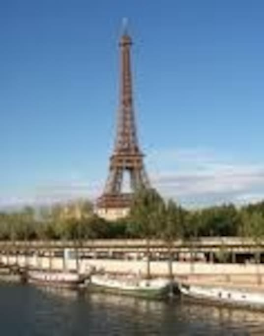 An amazing location right under the Eiffel Tower, on a pedestrian pier (Unesco World heritage)