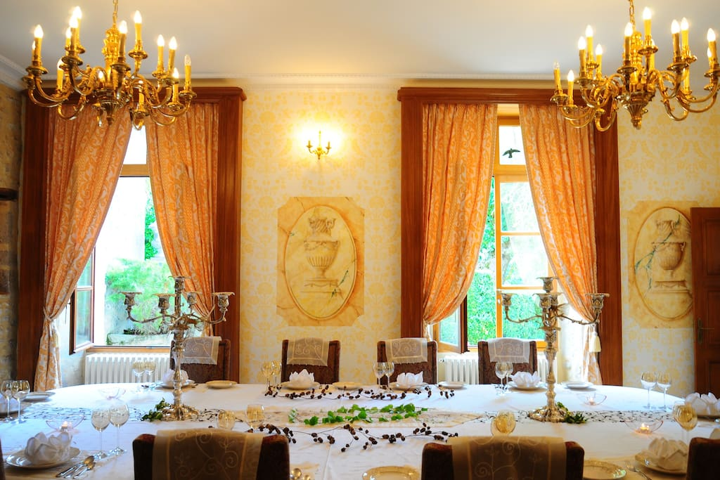 Sumptuous dining room