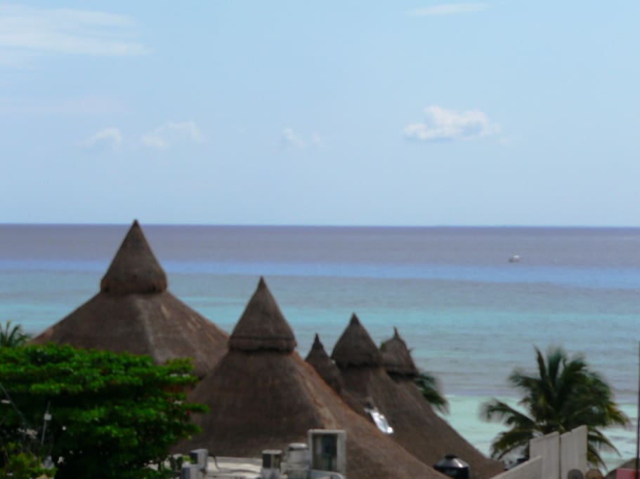 Beautiful view to the Caribbean sea from solarium!
