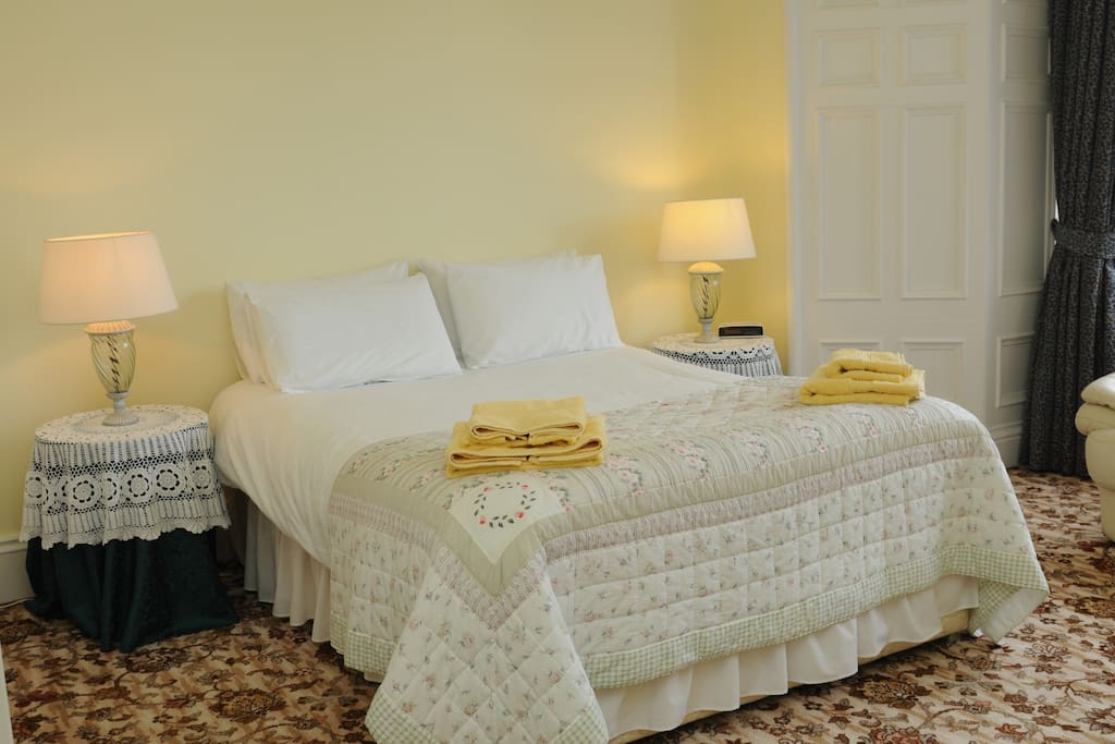 Large comfortable beds with private facilities