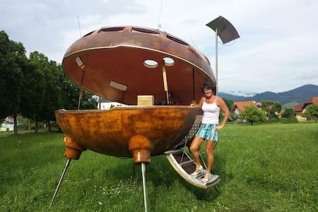 UFO am Freizeitteich Seebach bei Turnau - Graßnitz - Hut