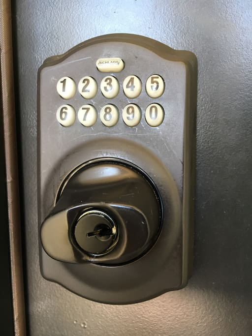 You will be given the key code to our house when you arrive.