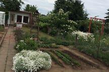 Romantische Gartenlaube