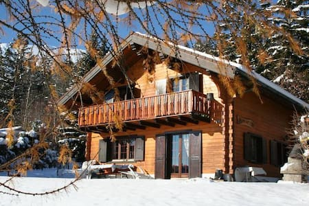 Beautiful chalet in the Swiss Alpes - Arbaz - Alpehytte