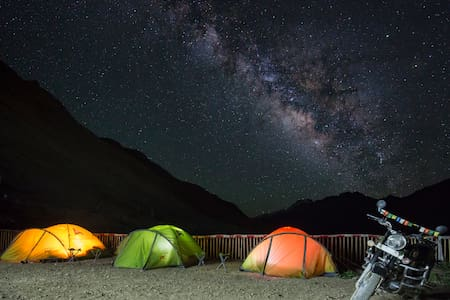 Hostel in Kaza, Spiti Valley - Outdoor Tent - Zelt
