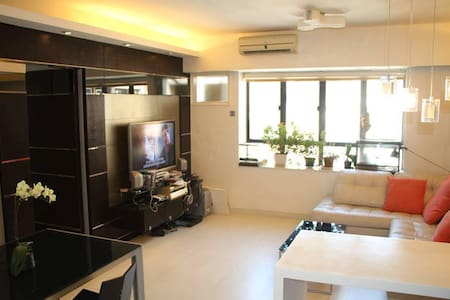 Located in Midlevel Central Hong Kong. Great view with rooftop and spacious and clean apartment for good value!