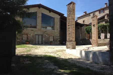 Casale con piscina di design - Rumah