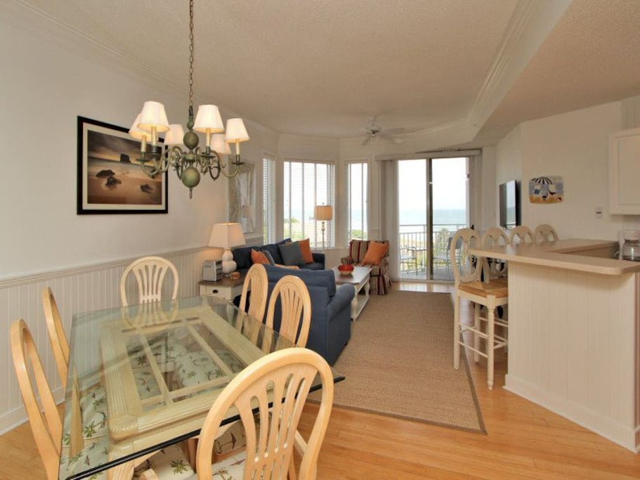 Dining Area to Living Room at 2413 Sea Crest