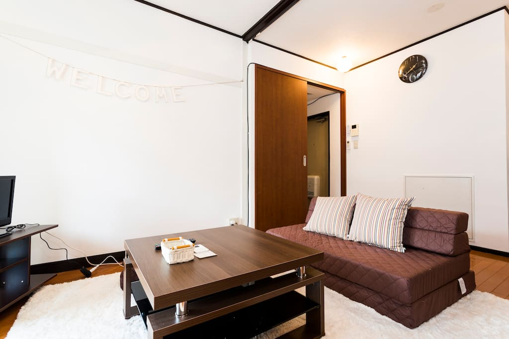 Brightly-lit and welcoming living room