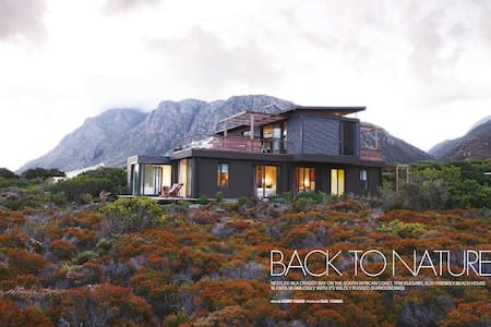 FYNBOS GLASS HOUSE - best of coastal accommodation - Betty's Bay - Rumah