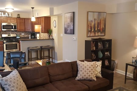 Warm, modern one bedroom, close to it all! - Chicago Ridge - Condominio