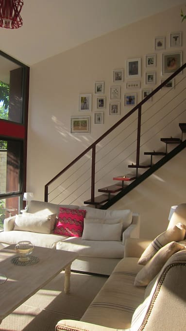 Downstairs communal seating area - furnished