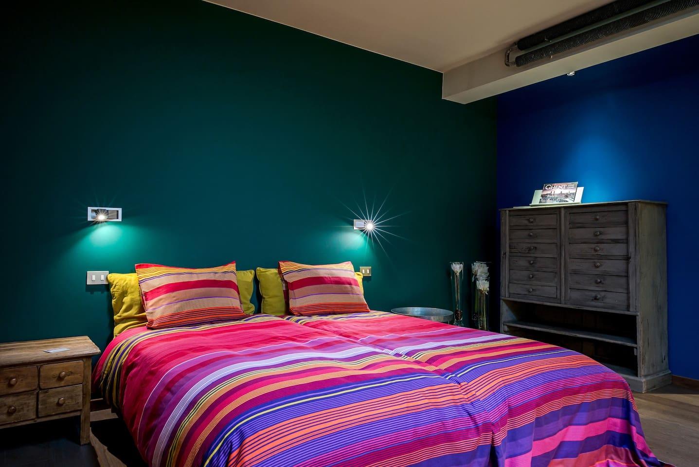 Kleurrijke kamers in gent centrum   te huur in ghent