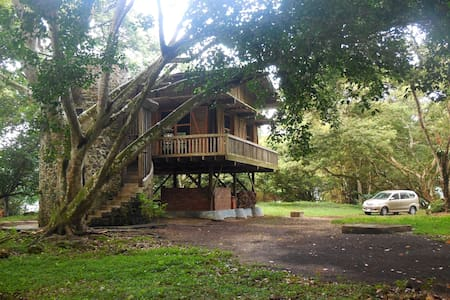 Lake-front 3-level wooden-cabin - Catemaco