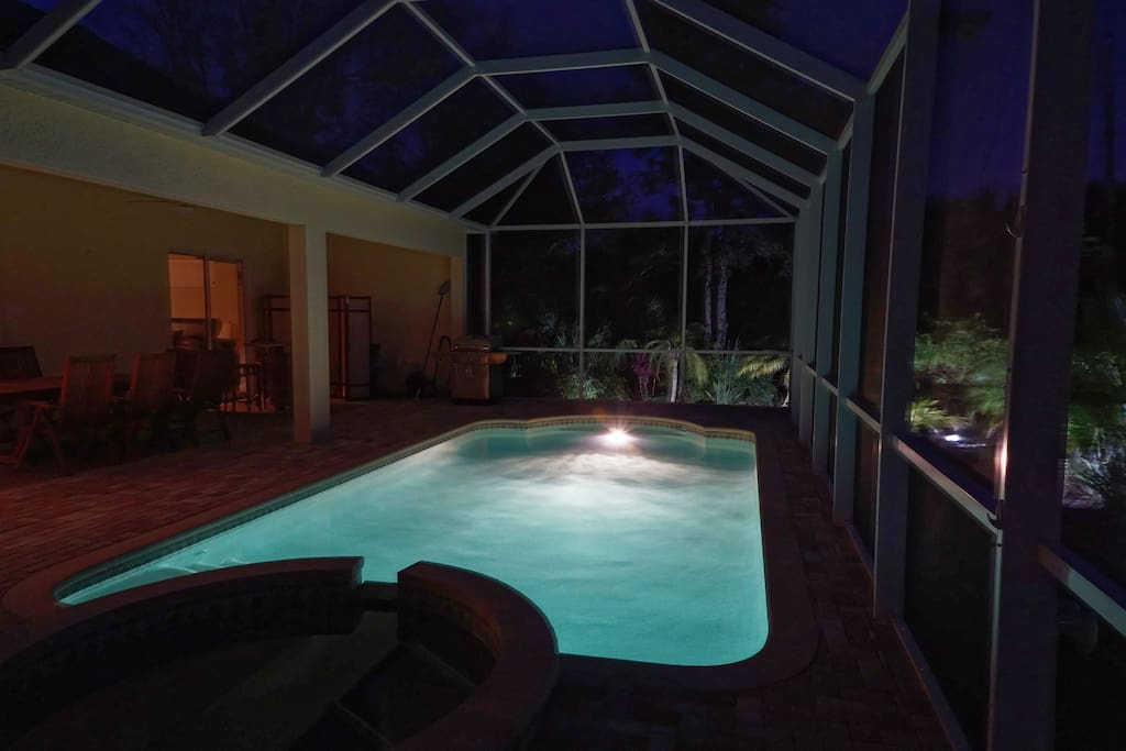 View of pool from second bedroom