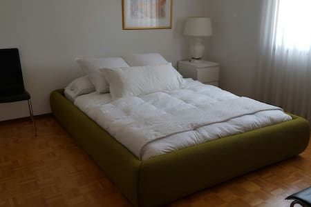 Queen size bed in a nice size BRoom - Brossard - Haus