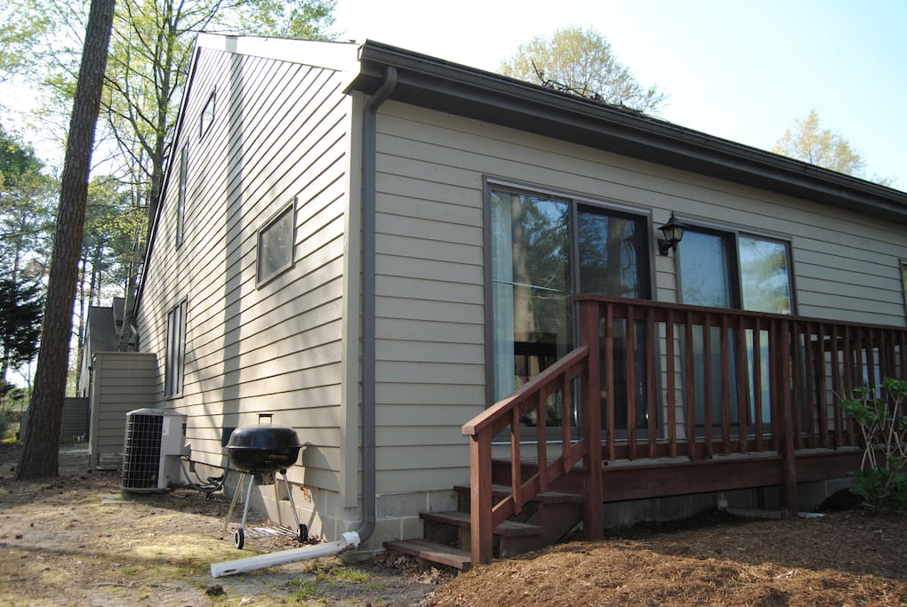 Rear of the home (both lower level guest rooms have outdoor access)