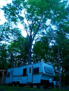 trailer in the woods. - Harcourt - Lakókocsi/lakóautó