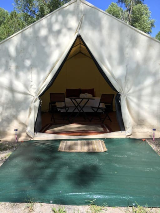 Riverside Wall Tent Tents For Rent In Irwin