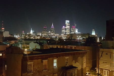 City Loft With Free Parking. Master Room with Bath - Philadelphie - Loft
