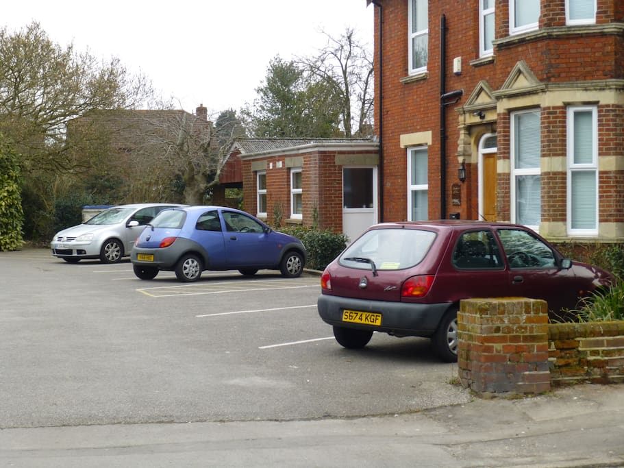 Ample parking for all 6 bedrooms
