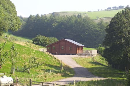 Private luxury Lodge & hot tub - Llangunllo