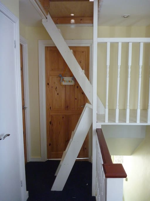 There will be a little twisting and turning negotiating these stairs!