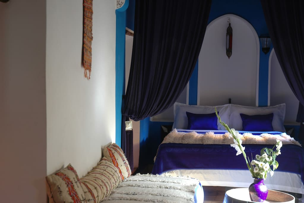 Majorelle blue  beds