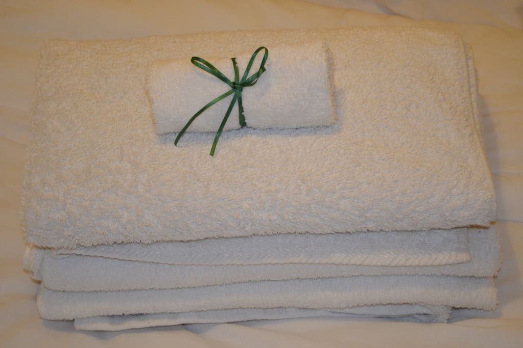 Enough fresh clean towels provided for your stay