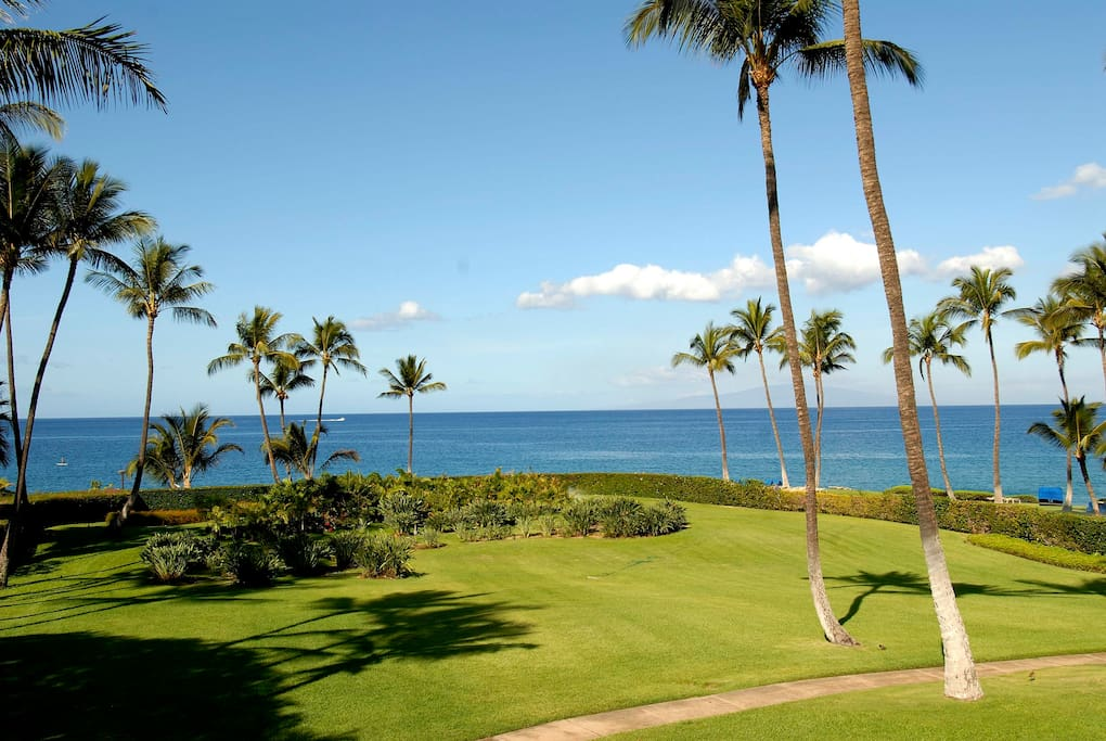 Beach View from the Lanai of our Wailea Elua 1904