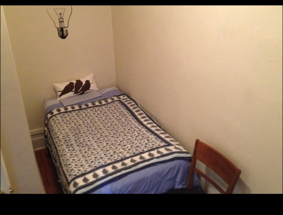 4th Small room fits ONLY ONE PERSON - Twin Size bed