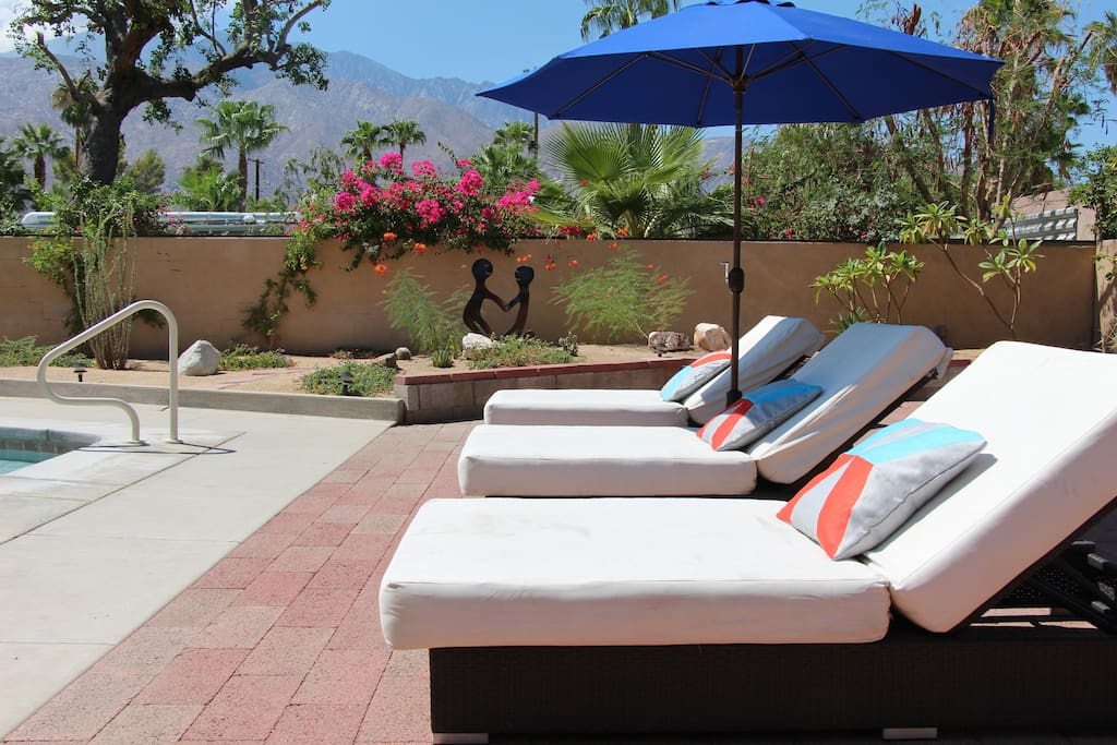 Work on your tan or relax in the shade as you drift away on one of the bed-sized loungers, to the peaceful sounds of the waterfall.