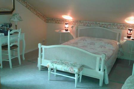 """LA MOUFFLAYTE, chambre """"Douceur de Roses"""" - Haus"""