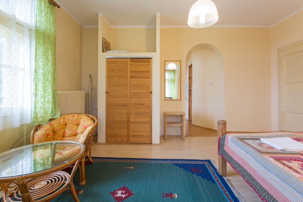 Studio with kitchen. Double bed and sofa bed